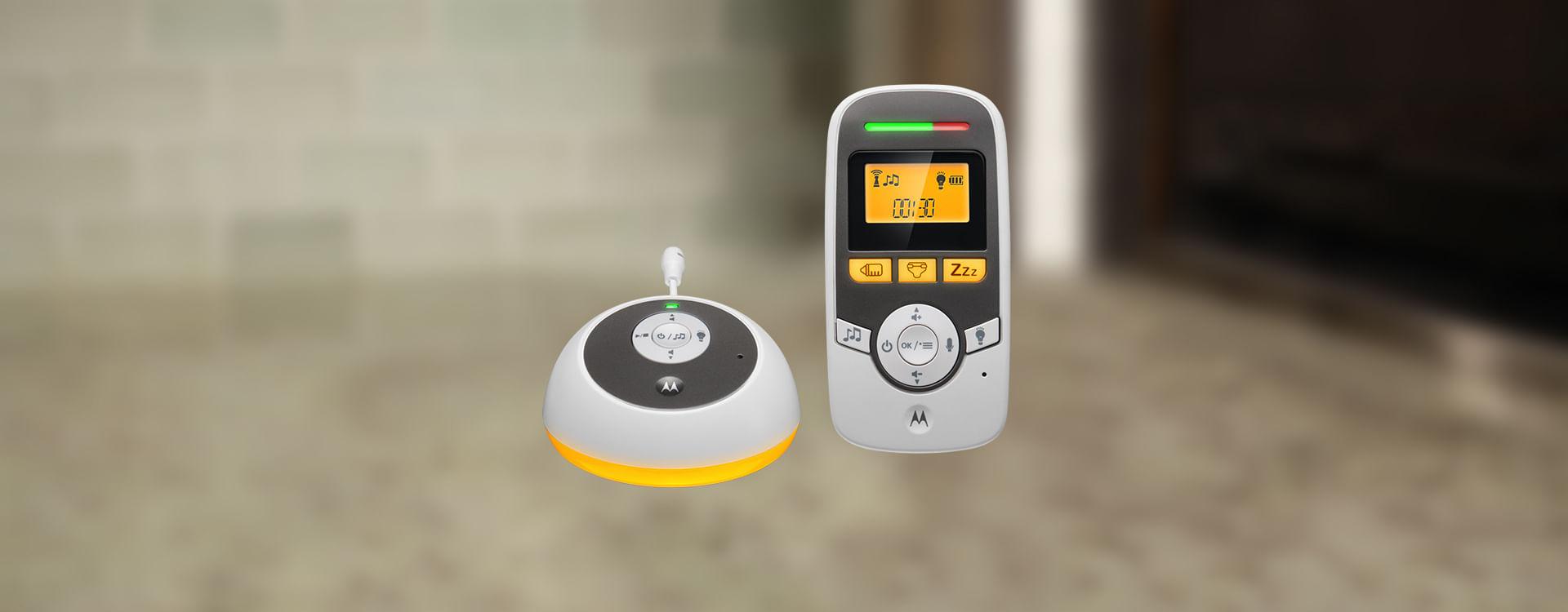 Motorola MBP161 Temporizador Audio Digital Baby Monitor con pantalla de habitación /& Luz De Noche